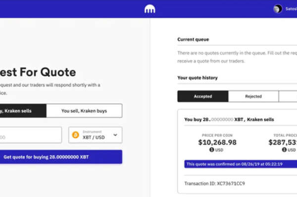 Kraken unveils fresh user interface for OTC bitcoin transactions » CryptoNinjas