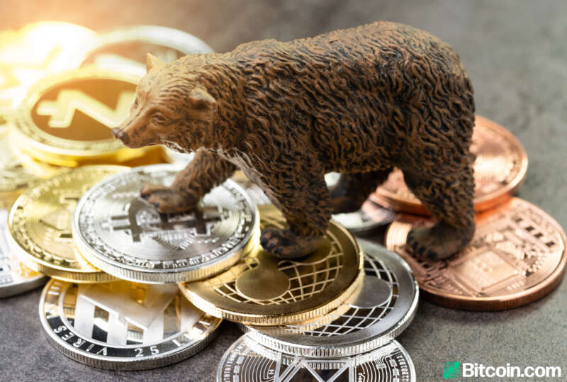 stock market and cryptocurrency crash